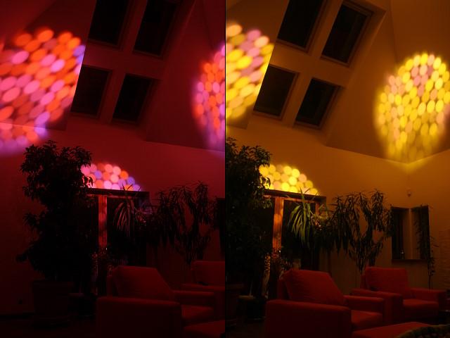 Efekt świetlny uzyskany dzięki randomizacji światłowodów w głowicy