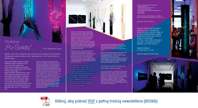 Pobierz plik PDF (2,7MB) z pełną treścią newslettera 'Wystawa Po-Światy'